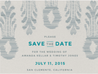 Ikat Pineapple Save The Date Wedding Invitation