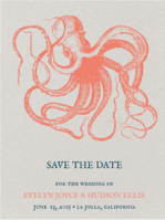 Under The Sea Save The Date Wedding Invitation