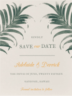 Palm Palm Save The Date Wedding Invitation