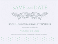 Finial Love Save The Date Wedding Invitation