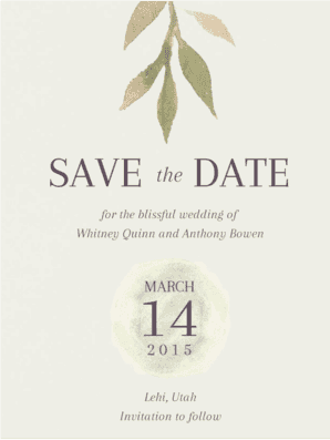 Floralia Save The Date Save the Date