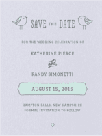 Lovebirds Save The Date Wedding Invitation
