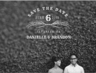 Forever Chalkboard Save The Date Wedding Invitation