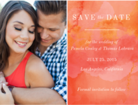 Tie Dye Crush Save The Date Wedding Invitation