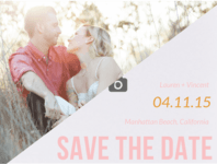 His & Hers Save The Date Wedding Invitation