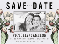 Perennial Blossoms Save the Date Wedding Invitation