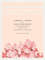 Botanical Blooms Save The Date Wedding Invitation