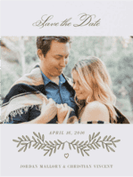All Love Branch Save The Date Wedding Invitation