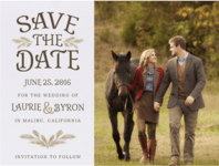 Pining For Love Save The Date Wedding Invitation