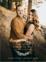 Wood Grain Save The Date Wedding Invitation
