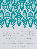 Batik Art Save The Date Wedding Invitation