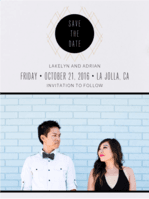 Contemporary Argyle Save the Date Wedding Invitation
