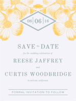 Diamond Fleur Save The Date Wedding Invitation