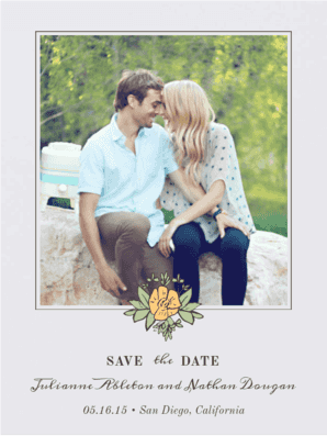 Flower Crown Save The Date Save the Date