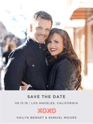 X and O Save The Date Save the Date