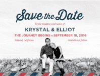 Air Mail Save the Date Wedding Invitation