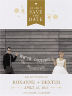 Bubbly Save The Date Wedding Invitation
