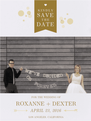 Bubbly Save The Date Save the Date
