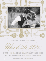 Love Is The Key Save the Date Wedding Invitation