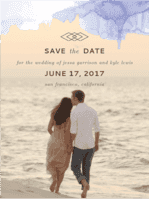 Serendipity Save The Date Wedding Invitation