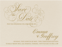 Le Patisserie Save The Date Wedding Invitation