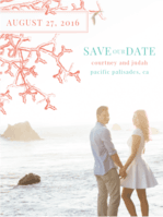 Coral Reef Save The Date Wedding Invitation