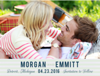 True North Save The Date Wedding Invitation