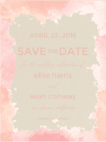 Sincerely Yours Save The Date Wedding Invitation