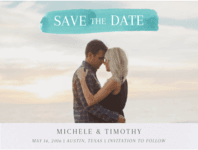 Brush Stroke Save the Date Wedding Invitation