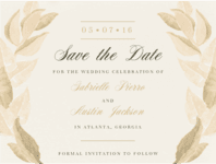 Ring of Leaves Save The Date Wedding Invitation