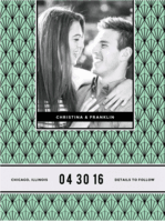 Solitaire Gem Save the Date Wedding Invitation