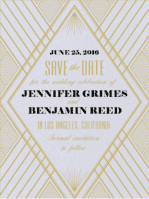 Diamond Eye Save The Date Wedding Invitation