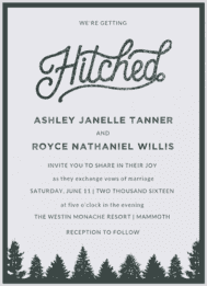 Hitched Wedding Invitation