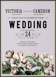 Perennial Blossoms Wedding Invitation