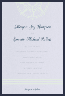 True North Wedding Invitation