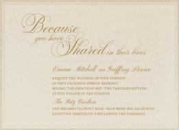 Le Patisserie Wedding Invitation