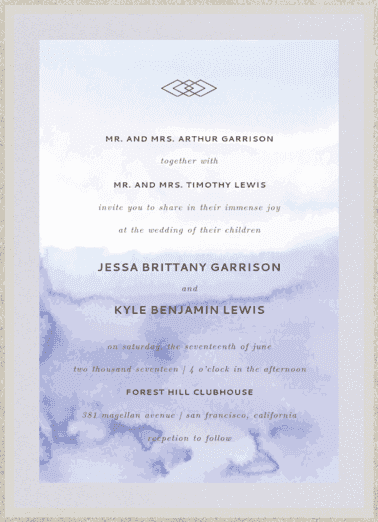 Serendipity Wedding Invitation
