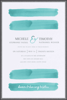 Brush Stroke Wedding Invitation
