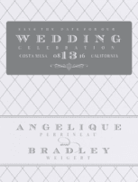 A Flourished Affair Save The Date Wedding Invitation