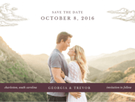 Love is in the Air Save the Date Wedding Invitation