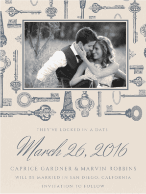 Love Is The Key Save the Date Save the Date