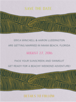 Lush Leaves Save The Date Wedding Invitation