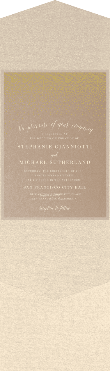 Confetti Toss Wedding Invitation