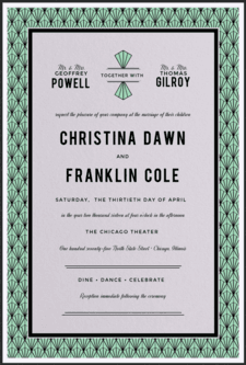 Solitaire Gem Wedding Invitation