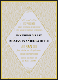 Diamond Eye Wedding Invitation