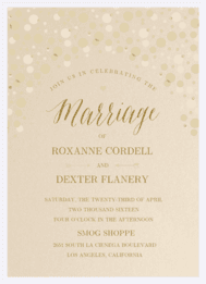 Bubbly Wedding Invitation