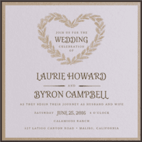 Pining For Love Wedding Invitation