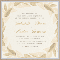 Ring of Leaves Wedding Invitation