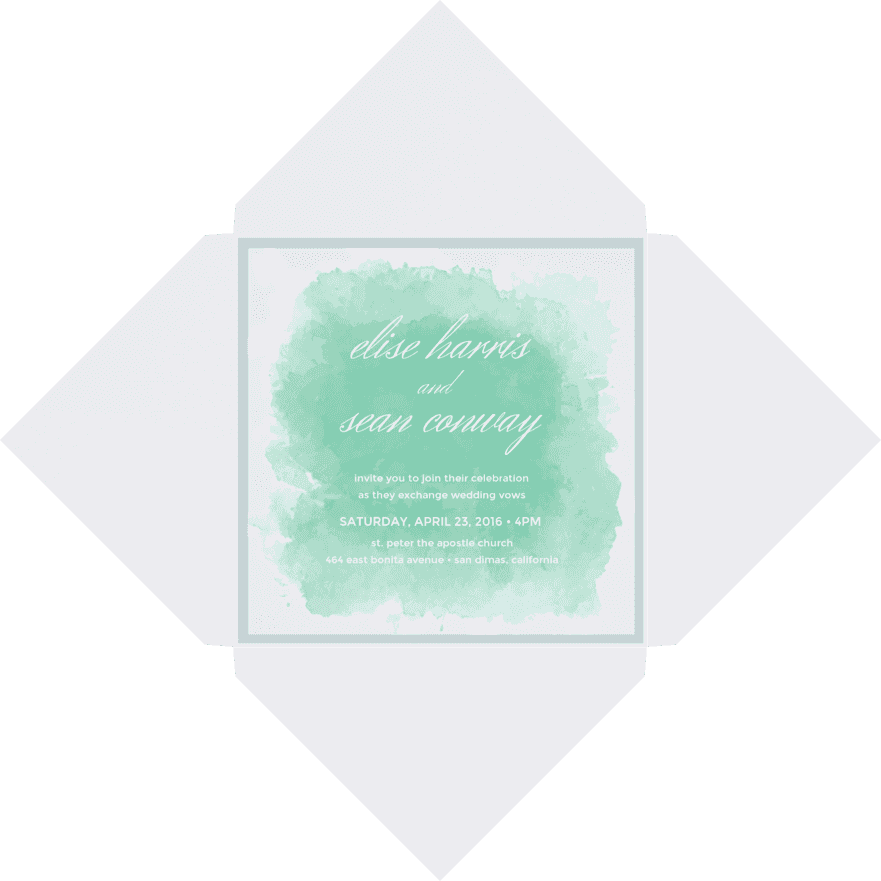 Sincerely Yours Wedding Invitation