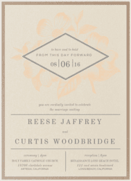 Diamond Fleur Wedding Invitation